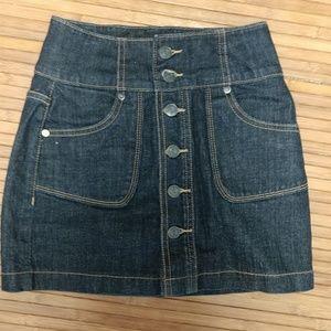 Dark blue high waist skirt